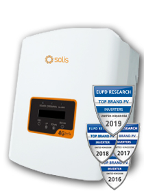 Solis 3.0kW 4G 2 MPPT - Enkele fase met DC